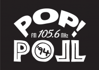 Pop-Poll logo white on black
