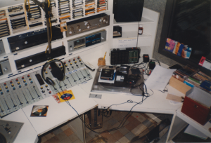 Studio 2 before the reconstruction commences, with entirely on the right the window to studio 3