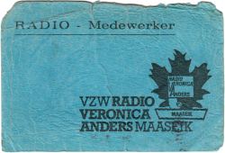 Volunteer identification card front side