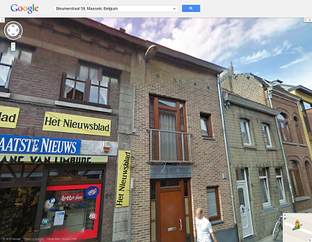 Google Street View shows the current building on the Bleumerstraat where once the station was located