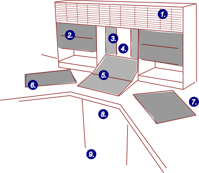Layout of studios 2 and 4